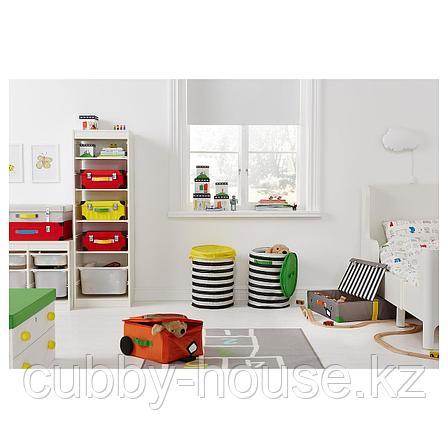 ФЛЮТТБАР Коробка с крышкой, зеленый, белый, 79x42x41 см, фото 2