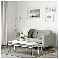 ЛАНДСКРУНА 2-местный диван, Гуннаред светло-зеленый/дерево, фото 3