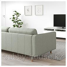 ЛАНДСКРУНА 2-местный диван, Гуннаред светло-зеленый/дерево, фото 2