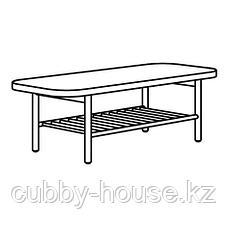 ЛИСТЕРБИ Журнальный стол, белая морилка дуб, 140x60 см, фото 3