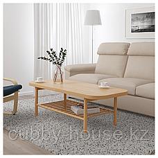 ЛИСТЕРБИ Журнальный стол, белая морилка дуб, 140x60 см, фото 2