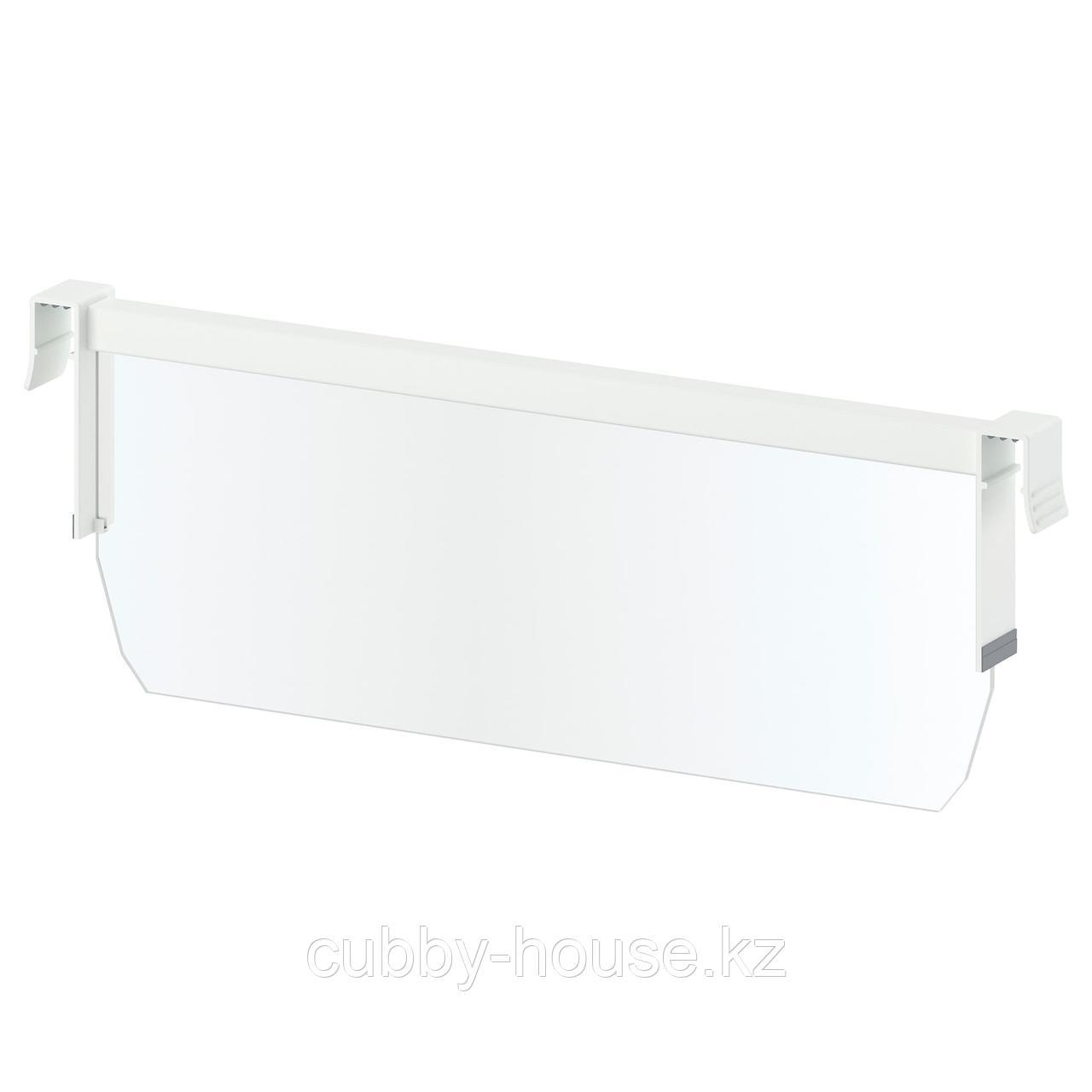 МАКСИМЕРА Разделитель д/среднего ящика, белый, прозрачный, 80 см