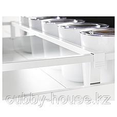 МАКСИМЕРА Разделитель д/среднего ящика, белый, прозрачный, 80 см, фото 2