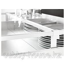 МАКСИМЕРА Разделитель д/среднего ящика, белый, прозрачный, 80 см, фото 3