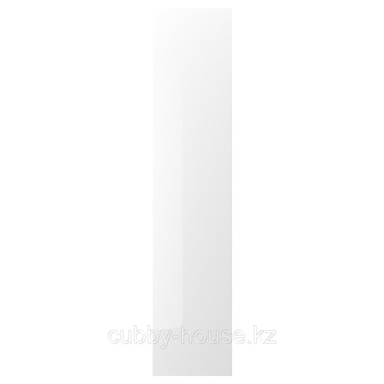 ФАРДАЛЬ Дверь, глянцевый белый, 50x195 см