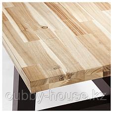 СКОГСТА / НОРРАРИД Стол и 6 стульев, акация, черный, 235x100 см, фото 3
