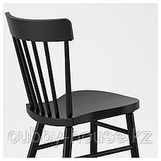 СКОГСТА / НОРРАРИД Стол и 6 стульев, акация, черный, 235x100 см, фото 2