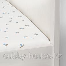 РЁДХАКЕ Простыня натяжн для кроватки, белый, орнамент «черника», 60x120 см, фото 3