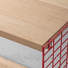 СВЕНСХУЛЬТ Полка с отделением для хранения, коричнево-красный, под беленый дуб, 41x20 см, фото 3