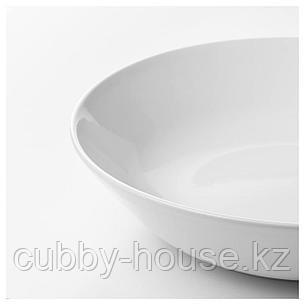 ФЛИТИГХЕТ Тарелка глубокая, белый, 22 см, фото 2