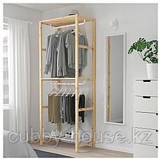 ИВАР Стеллаж с платяной штангой, 89x50x226 см, фото 2