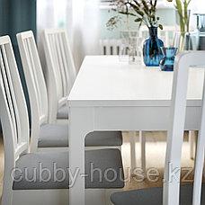 ЭКЕДАЛЕН Раздвижной стол, белый, 120/180x80 см, фото 3