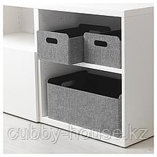 БЕСТО Коробка, серый, 32x51x21 см, фото 3