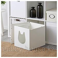 КАЛЛАКС Домик для кошки, белый, 33x33 см, фото 3