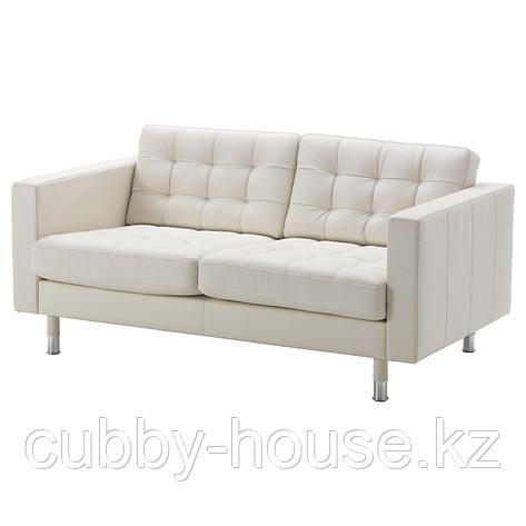 ЛАНДСКРУНА 2-местный диван, Гранн/Бумстад золотисто-коричневый/металл, фото 2