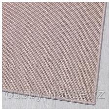 СОЛЛИНГЕ Ковер безворсовый, бежевый, 65x150 см, фото 3