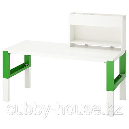 ПОЛЬ Стол с дополнительным модулем, белый, 128x58 см, фото 2
