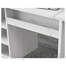 БРУСАЛИ Письменный стол, белый, 90x52 см, фото 3