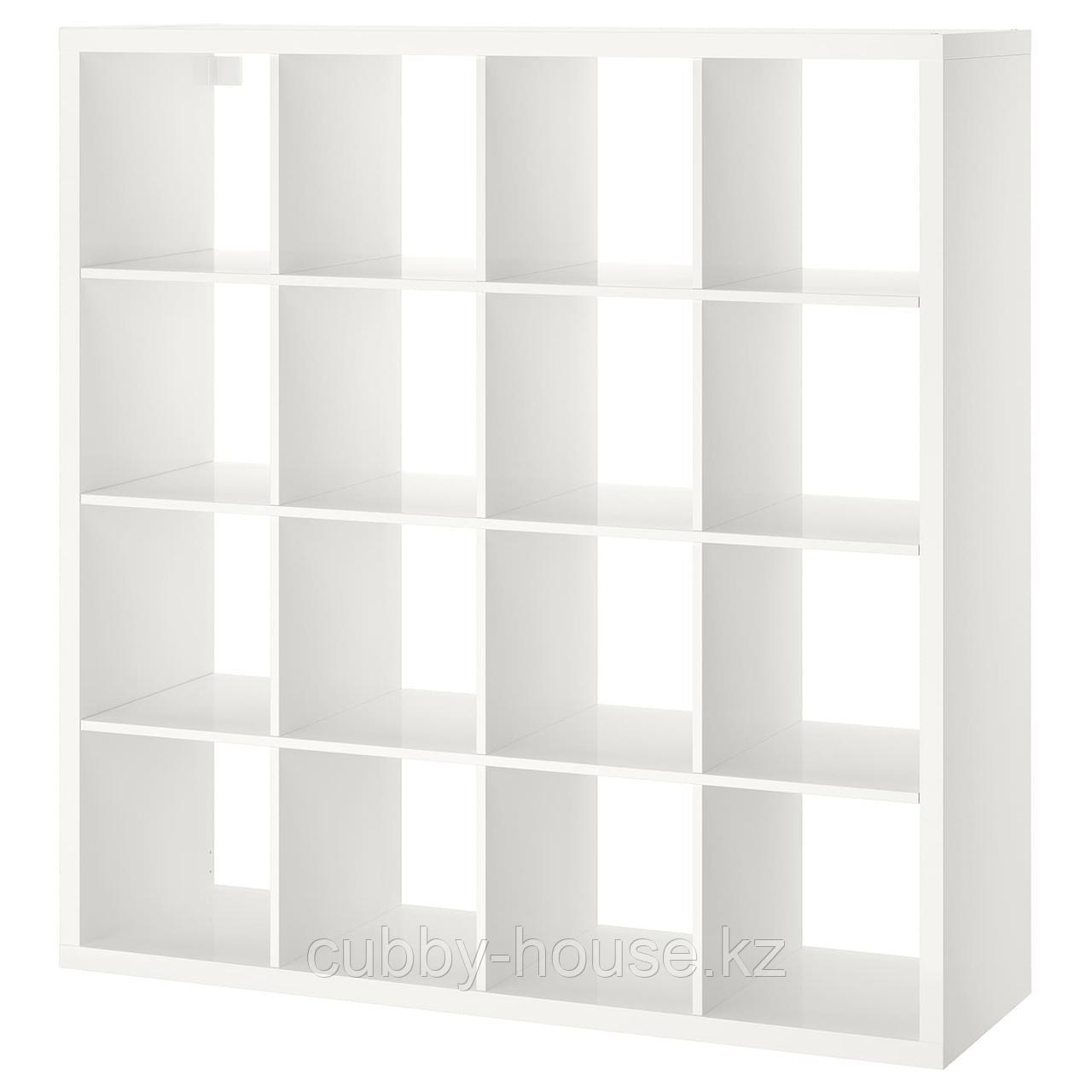 КАЛЛАКС Стеллаж, белый, 147x147 см