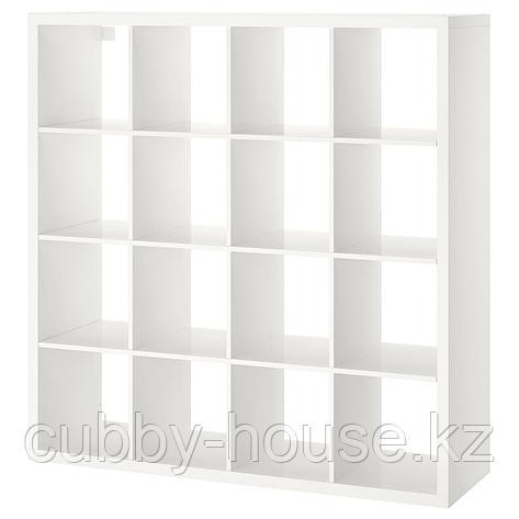 КАЛЛАКС Стеллаж, белый, 147x147 см, фото 2