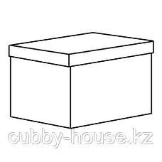ТЬЕНА Коробка с крышкой, белый, 18x25x15 см, фото 3