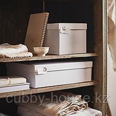 ТЬЕНА Коробка с крышкой, белый, 18x25x15 см, фото 2