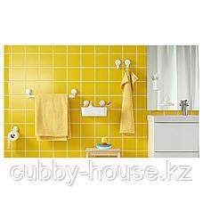 ТИСКЕН Держатель туалетн бумаги н/присоске, белый, фото 2