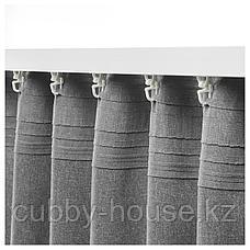 ХАННАЛЕНА Затемняющие гардины, 1 пара, серый, 145x300 см, фото 3