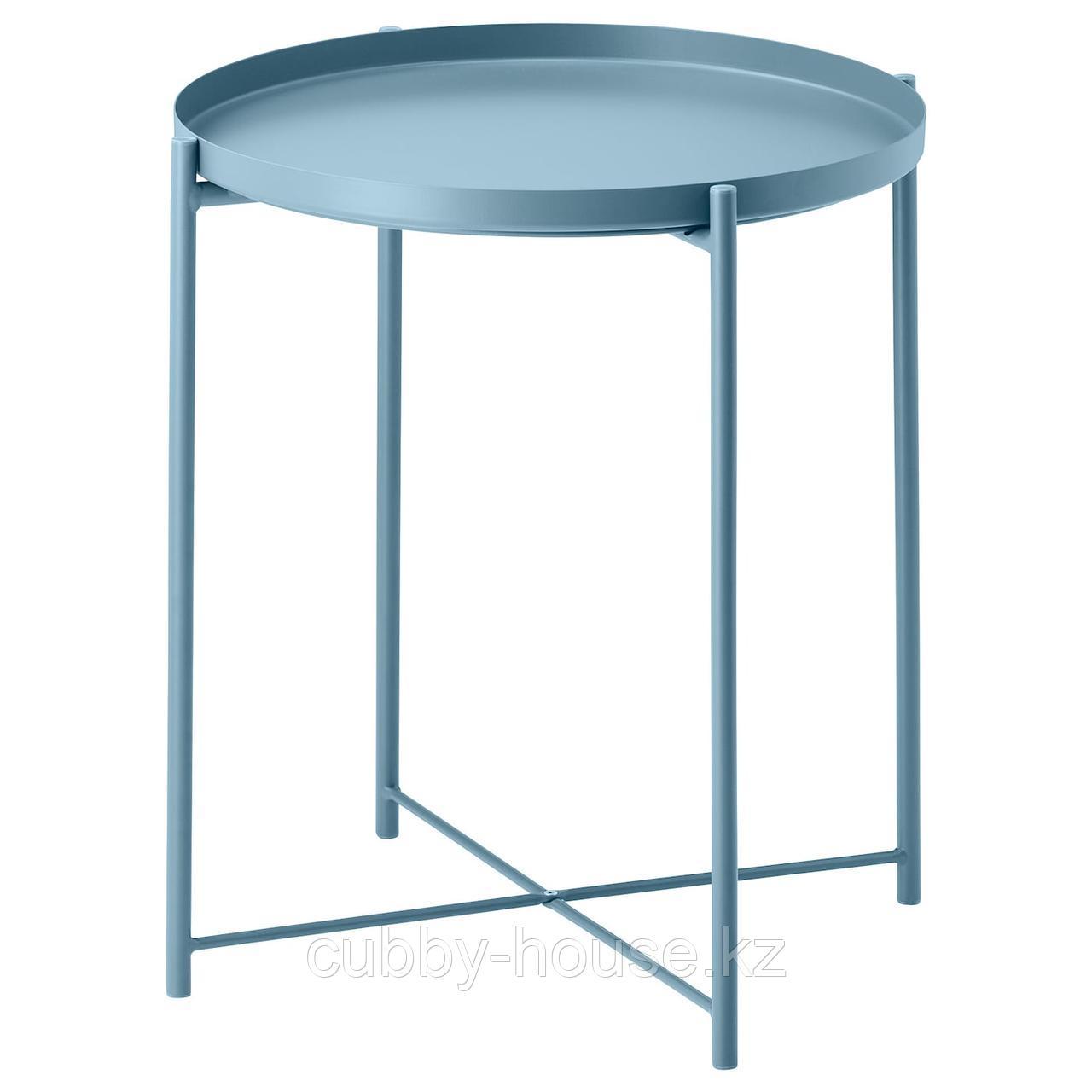 ГЛАДОМ Стол сервировочный, черный, 45x53 см