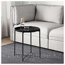 ГЛАДОМ Стол сервировочный, черный, 45x53 см, фото 2