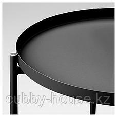 ГЛАДОМ Стол сервировочный, черный, 45x53 см, фото 3