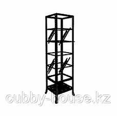 КЛИНГСБУ Шкаф-витрина, черный, прозрачное стекло, 45x180 см, фото 3