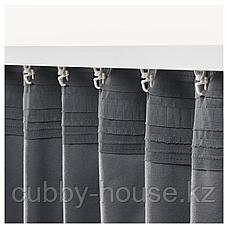 САНЕЛА Затемняющие гардины, 1 пара, темно-серый, 140x300 см, фото 2