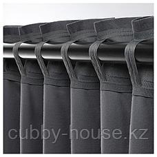 САНЕЛА Затемняющие гардины, 1 пара, темно-серый, 140x300 см, фото 3