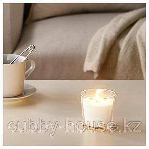 СИНЛИГ Ароматическая свеча в стакане, Сладкая ваниль, естественный, 7.5 см, фото 2