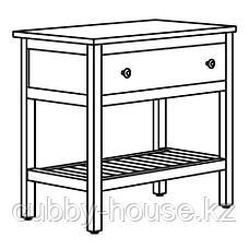 ХЕМНЭС Открытый шкаф для раковины,1 ящик, белый, 82x48x76 см, фото 3