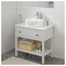 ХЕМНЭС Открытый шкаф для раковины,1 ящик, белый, 82x48x76 см, фото 2
