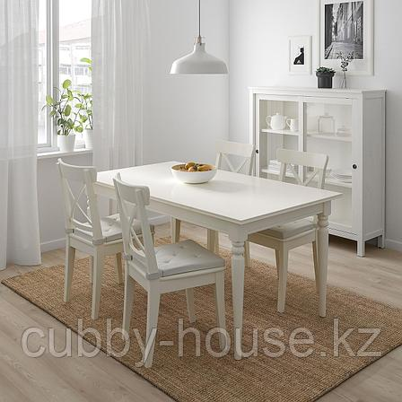 ЮСТИНА Подушка на стул, неокрашенный, 35/42x40x4.0 см, фото 2