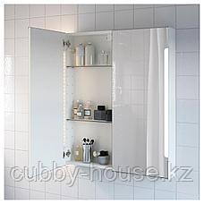 СТОРЙОРМ Зеркальн шкафчик/2дверцы/подсветка, белый, 80x14x96 см, фото 3