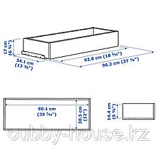 КОМПЛИМЕНТ Ящик, белый, 100x35 см, фото 3
