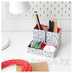 МЁЙЛИГХЕТ Набор коробок, 3 шт., красный, мозаичный орнамент, фото 2