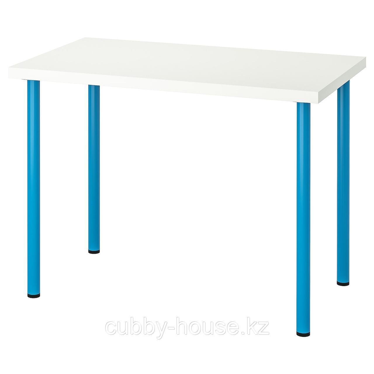 ЛИННМОН / АДИЛЬС Стол, белый, 100x60 см