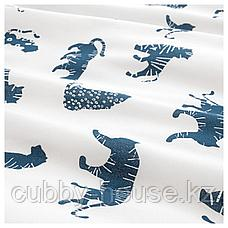 УРСКОГ Пододеяльник и 1 наволочка, тигр, синий, 150x200/50x70 см, фото 3