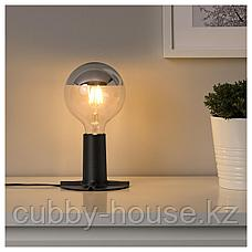 СКАЛЛЬРАН Основание настольной лампы, темно-серый/металл, фото 2