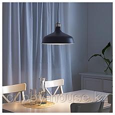 РАНАРП Подвесной светильник, черный, 38 см, фото 2