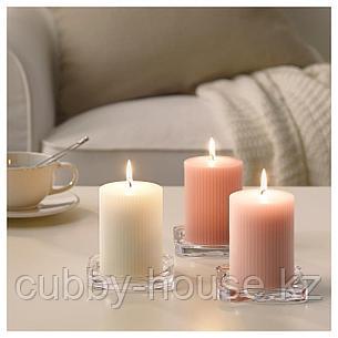 БЛОМДОРФ Формовая свеча, ароматическая, душистый горошек, светло-оранжевый, 10 см, фото 2