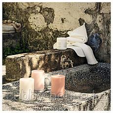 БЛОМДОРФ Формовая свеча, ароматическая, душистый горошек, светло-оранжевый, 10 см, фото 3