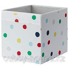ДРЁНА Коробка, точечный, 33x38x33 см, фото 2