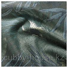 ТОРГЕРД Затемняющие гардины, 1 пара, синий, зеленый, 145x300 см, фото 2