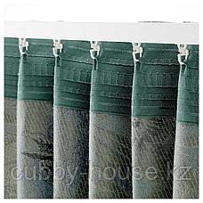 ТОРГЕРД Затемняющие гардины, 1 пара, синий, зеленый, 145x300 см, фото 3